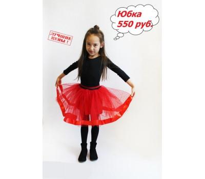 Юбка для девочек ЮД-005 красный