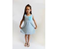 Платье для девочки арт.ПН-0027 голубой